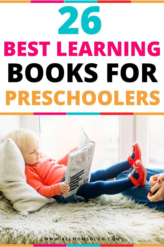 26 best books for preschoolers- all moms blog pin image