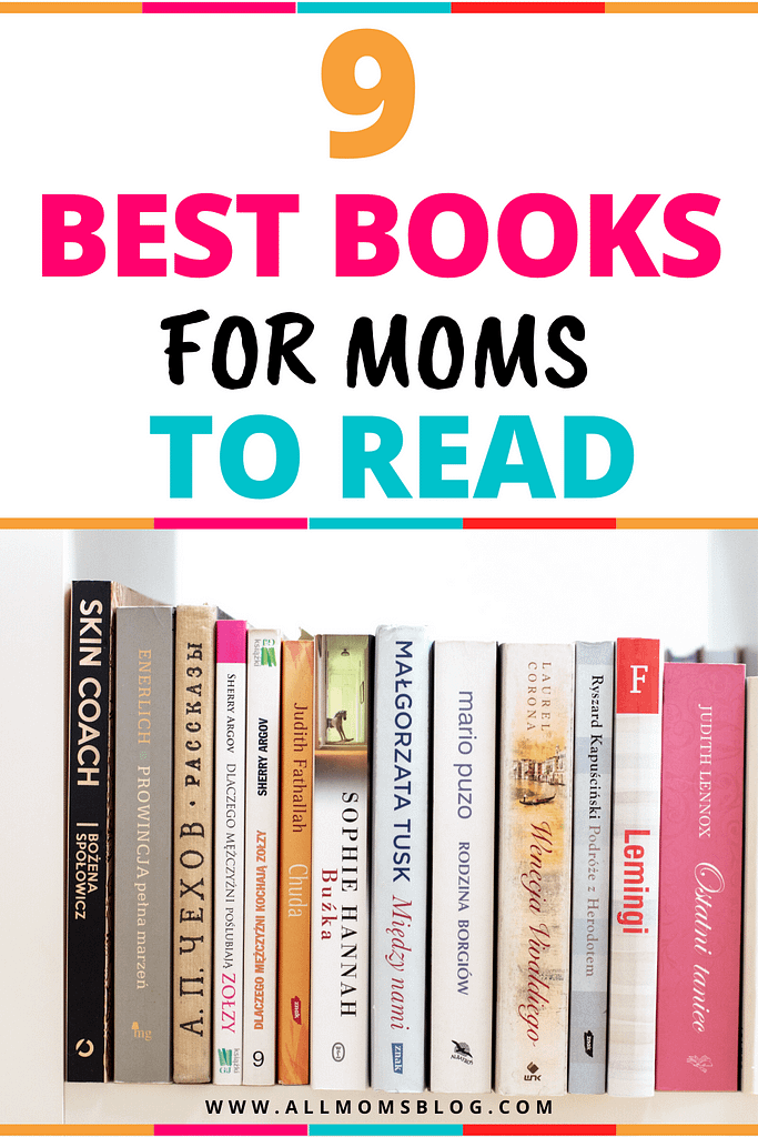 BEST BOOKS FOR MOMS- ALL MOMS BLOG PIN IMAGE
