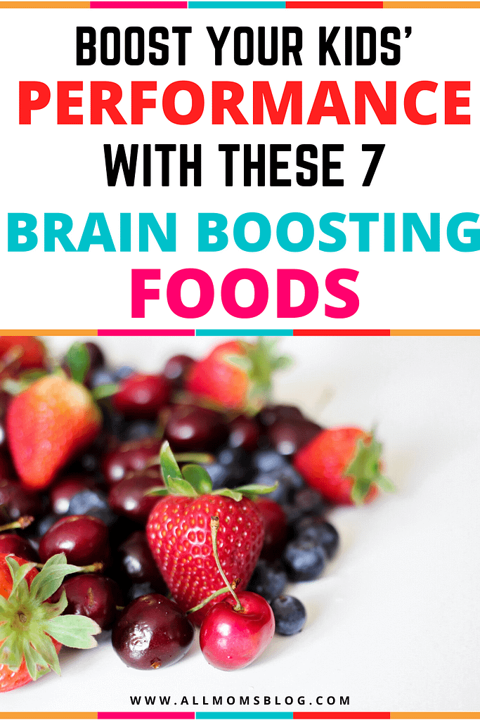 brain boosting foods for kids - all moms blog pin image